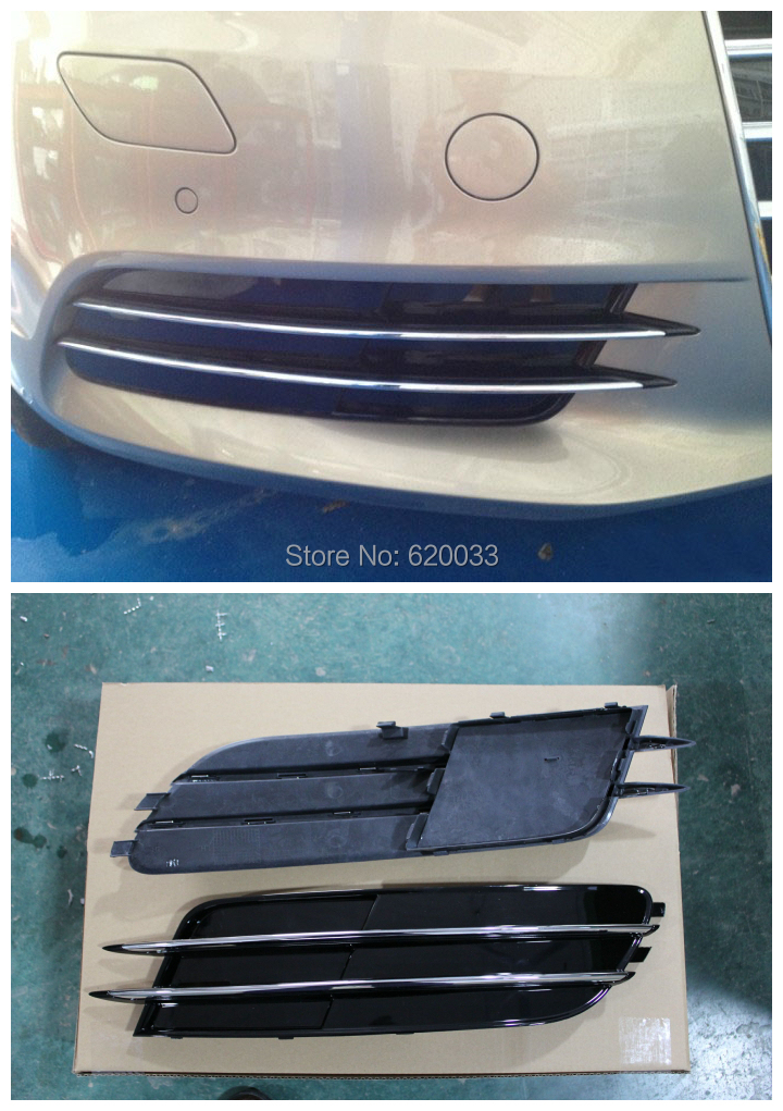 Фотография Super Quality Fits for A6 C7 Fog Lamp Mask, Front Fog Light Mask Cover for A6 C7 2013up 2pcs/set