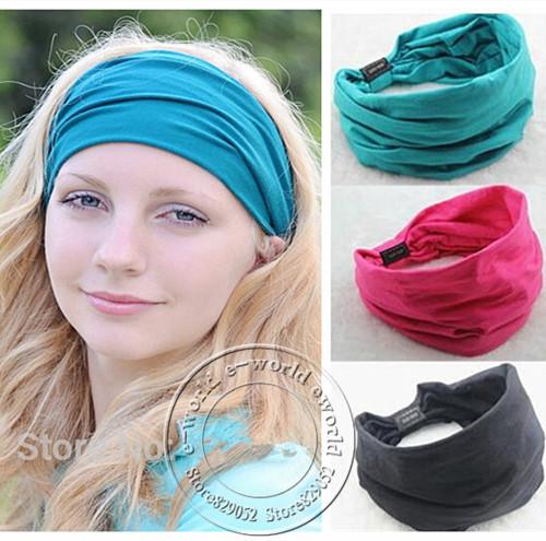 2015 New Wide Elastic 100% Cotton Headbands Leopard Turban Headband Headwear for Women Variety of Wear Method Hair Accessories(China (Mainland))