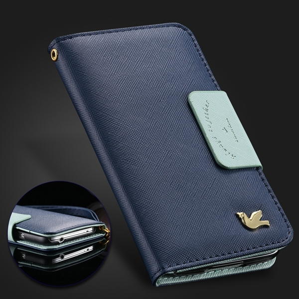 For Iphone 4s Case Vintage Retro Fly Brid PU Leather Case For Iphone 4 4s 4g Wallet Phone Case Flip Stand Crad Slot Mirror Cover(China (Mainland))