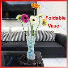 F85  1pc Plastic Unbreakable Foldable Reusable Flower Home Decor Vase Color Random-Y102(China (Mainland))