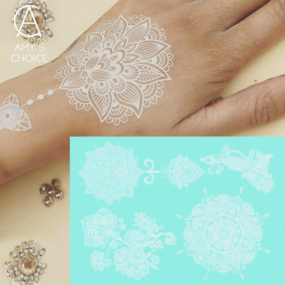 Buy waterproof metallic gold silver white for White temporary tattoos