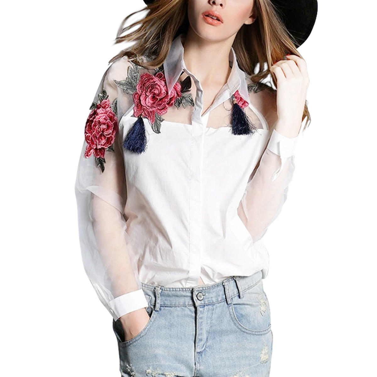 HTB1CUfaNVXXXXXgXpXXq6xXFXXX6 - Autumn Sexy Women Blouses Off Shoulder Lace Crochet Shirts