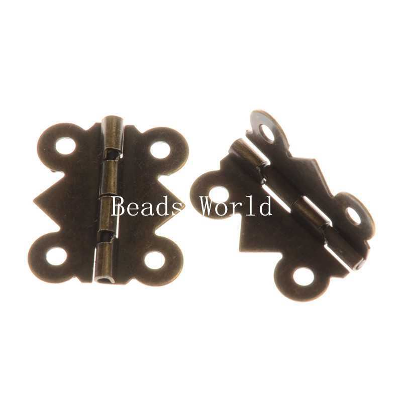 50 Bronze Tone Door Butt Hinges 4 Holes (rotated from 90 to 210 degrees) 24x21mm(W04374 X 1)(China (Mainland))