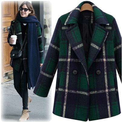 Green Wool Coat Womens