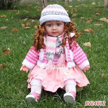 free shippment 2012 new  smart doll  children's toys dialogue plush toys battery operate doll