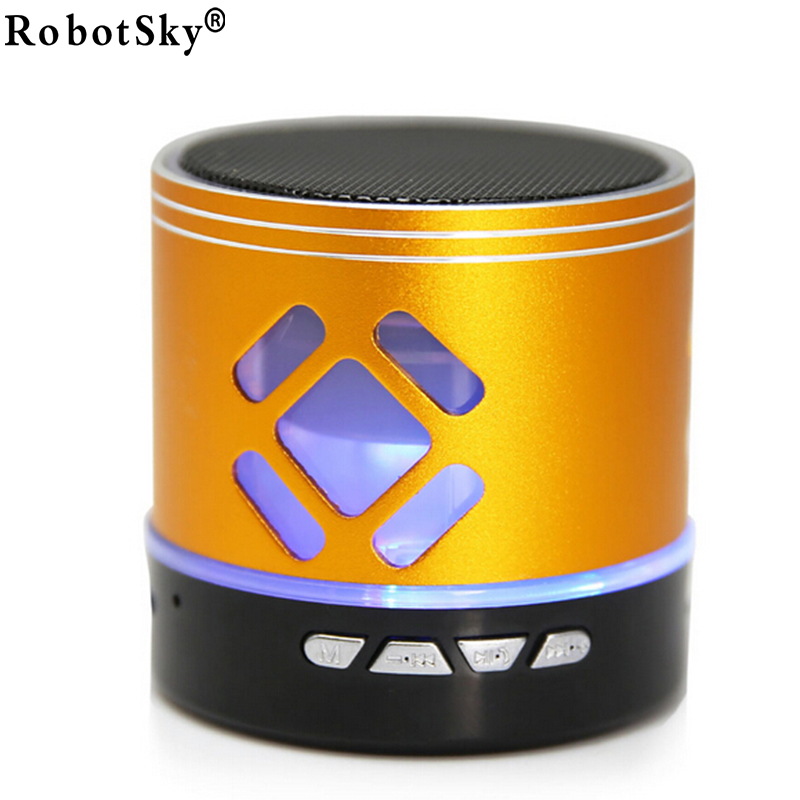 Wireless Aluminum Metal Mini Bluetooth 2.0 Speaker with LED Light W/Handfree Mic+TF Card Stereo for Laptop/PC/MP3/ MP4 Player<br><br>Aliexpress