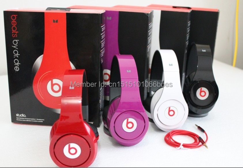 2015 Factory Sealed free shipping Hot sell High quality Brand beateds by dre headphones Studio DJ headsets(China (Mainland))