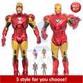 Free Shipping Marvel Iron Man 3 Action Figure Superhero Iron Man Tonny Mark PVC Figure Toy