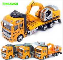 1:48 Pull Back Alloy Car Engineering Truck Model Excavators Cement Concrete Mixer Dumpers Diecasts Toy Vehicles for Boys(China (Mainland))