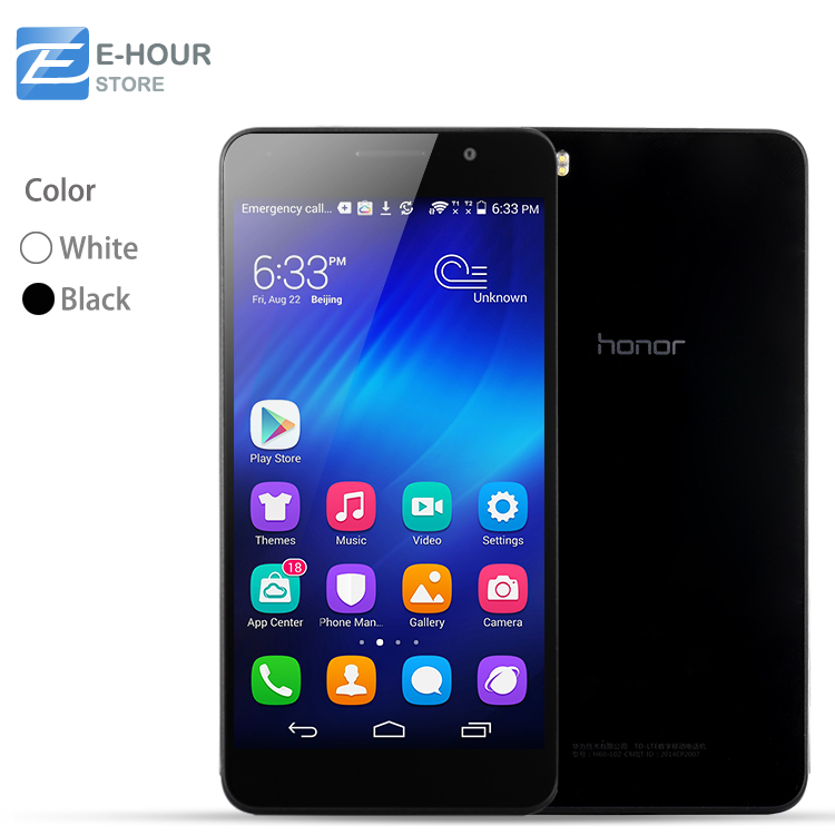 "Original 5"" Huawei Honor6 Honor 6 Octa Core 4G Cell Phones 3GB RAM LTPS 1920x1080 FHD 13.0MP Dual SIM Android 4.4 LTE(Hong Kong)"