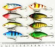Buy 16pcs 50mm Minnow fishing Lures VIB 5CM 6G 8#hooks, VI007 plastic Hard bait Stick bait Crankbait fishing lure free for $11.70 in AliExpress store