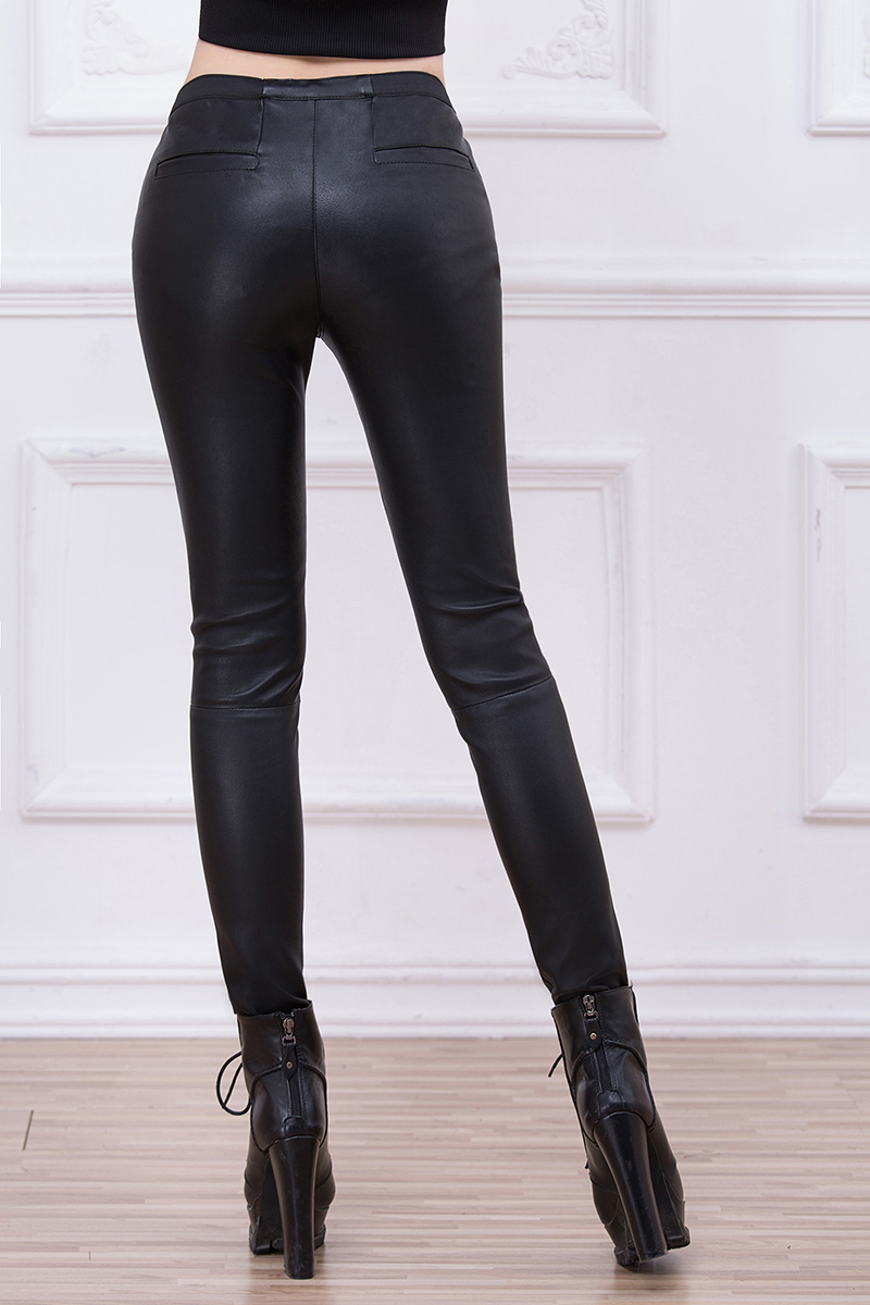 Model Black Leather Pants For Women  Car Interior Design