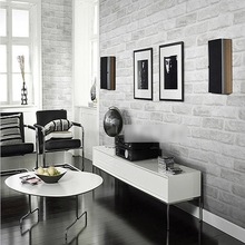 Excellent Quality Home Decoration White Grey Textured 3D Brick Pattern Wallpaper Roll Wallpaper Home Improvement 10 * 0.53M(China (Mainland))