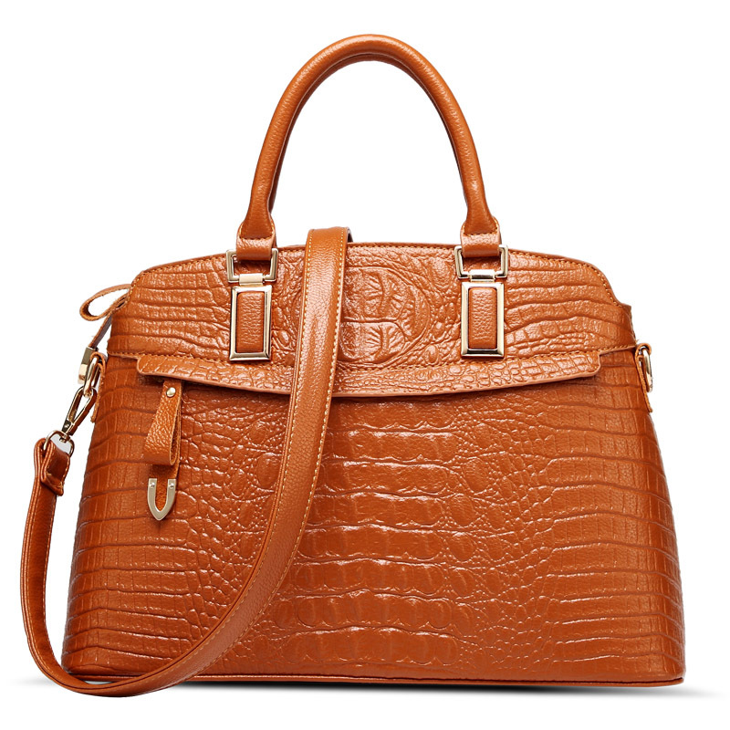 2015 New Women handbag Crocodile pattern Shoulder bags Women's messenger bags leather handbags Women Crossbody Bags