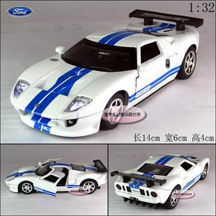 New Ford GT 2006 1:32 Alloy Diecast Model Car With Sound&Light White Toy Collection B284(China (Mainland))