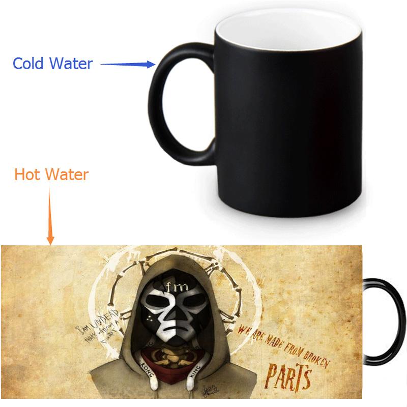 Hollywood Undead magic color changing coffee tea milk mug cup funny novelty travel custom morphing mugs 12 OZ/350ml(China (Mainland))