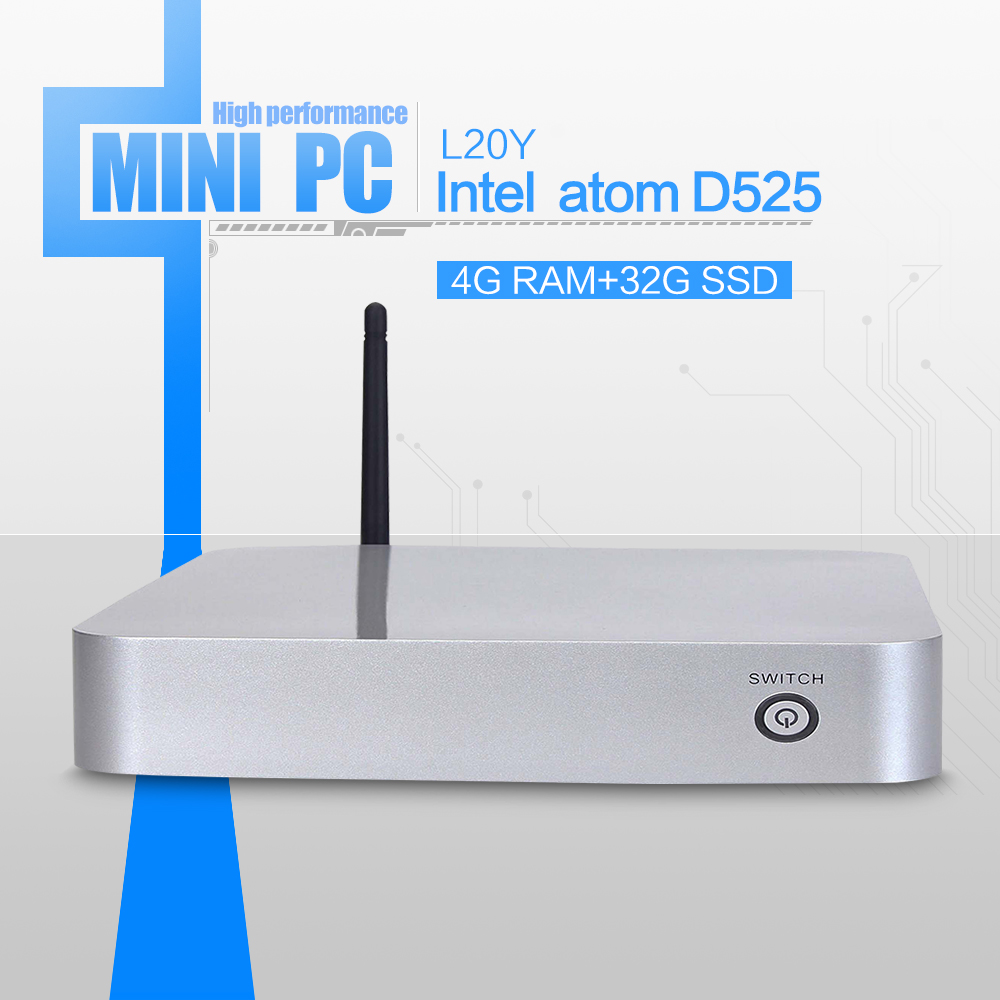 D525 Dual-core mini pcs computer networking support WIN7, Linux, Windows XP, Windows 2003, Ubuntu Debian(China (Mainland))
