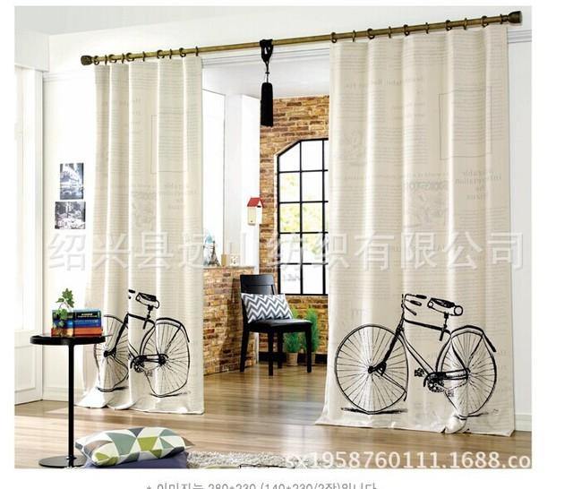 Korea synchrone bike farbe vorhänge vorhänge großhandel blume ...