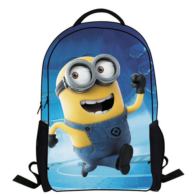 2014 New Fashion Novelty Despicable Me Kids Cartoon Backpack Minions emochilas children school bag mochilas free
