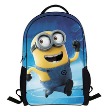 2014 New Fashion Novelty Despicable Me Kids Cartoon Backpack Minions emochilas children school bag mochilas free shipping