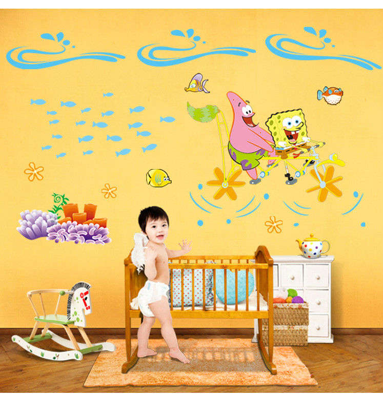 Cute Cartoon Vinyl Wall Stickers For Kids Room Princess Love Bedroom Art Large Decorative Wall