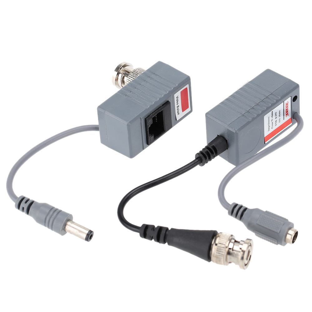 2pc BNC Connector Coaxial Cable Adapter CCTV Camera Passive Video Balun Transceiver Connector free shipping(China (Mainland))