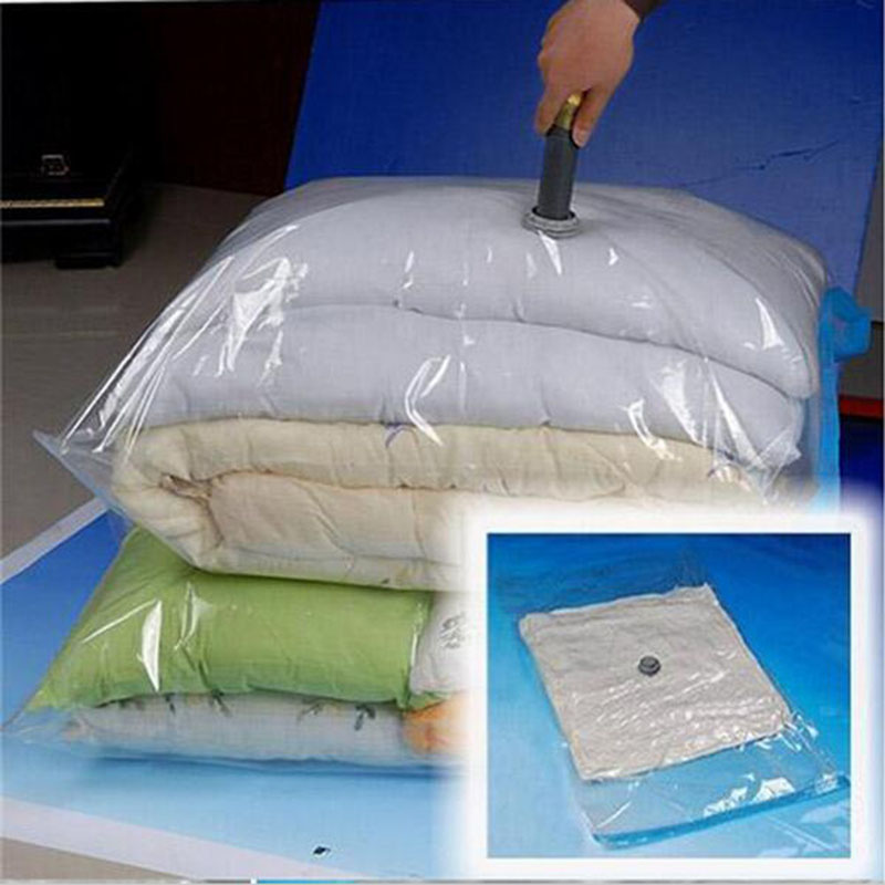 The New Vacuum Bag Foldable Transparent Border M / L / Xl / Xxl Compression Organizer Pouch Sealed Bags To Save Space(China (Mainland))