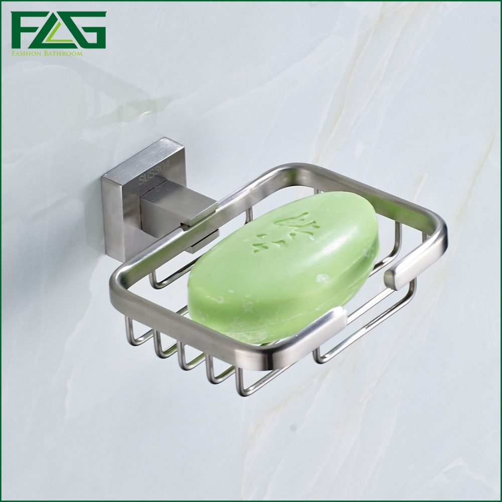 FLG Strongest Practical Design Bathroom Accessories Bathroom Soap dish Space 304 Stainless Steel Soap Basket Free Shipping G202(China (Mainland))