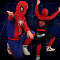 100 Cotton Spiderman Costume Halloween Cosplay Kids Clothes Hooded Outfit Boys Clothing Set Christmas Gift TZ09