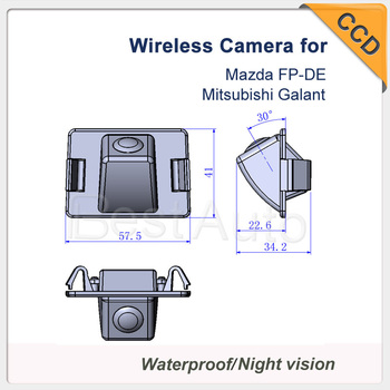 "CCD 1/3""  car rearview  waterproof For Mazda FP-DE Mitsubishi Galant  rear night version car parking camera Wireless"