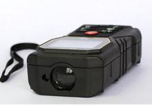 De mano láser 40 m tipo infrarrojo telémetro telémetro láser nivel de burbuja cinta métrica área / volumen herramienta