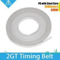 5M/lot 3D Printer Part Accessory PU with steel core GT2 Open Timing Belt Width 6mm for 3DPrinter RepRap Prusa Mendel Rostock CNC