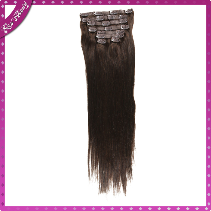 2# Human Hair Clip in Extensions African American Clip in Human Hair Extensions BHF Hair Malaysian Clip in Hair Extensions<br><br>Aliexpress