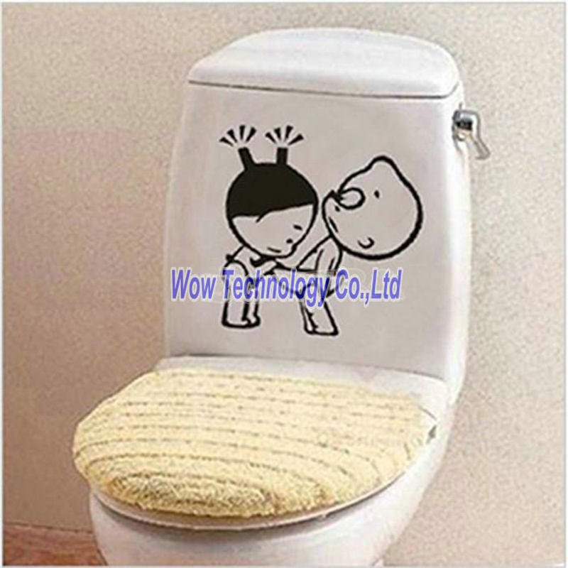 New funny bathroom decor home decoration creative toilet for Stickers de pared