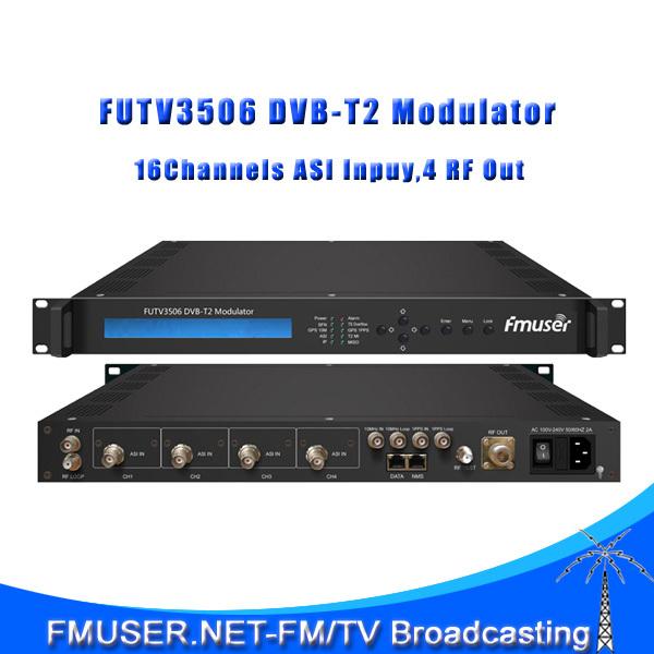 FUTV3506 DVB-T2 modulator (2*ASI in,1* IP out,QPSK/16QAM/64QAM/256QAM )with network syste(China (Mainland))