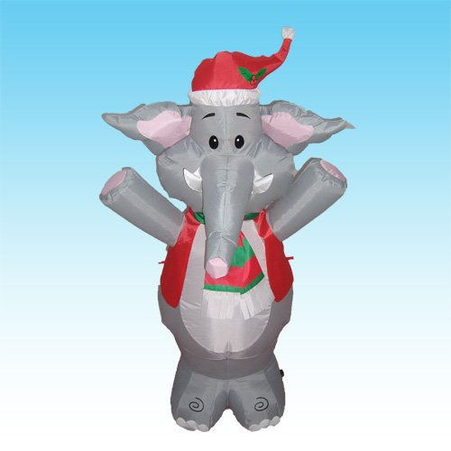 2015 Factory price 1.2M LED lighted Inflatable Lovely Christmas Elephant christmas Elephant lighted Witch Bar KTV Store decor(China (Mainland))