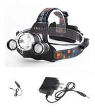 LED Headlight L5000LM CREE XM-L T6+2 *R2 LED Headlamp Head Bike Lamp Outdoor Lights+Charger+Car Charger(China (Mainland))