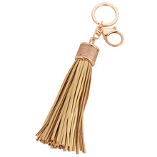 20CM Muti-function Handmade Women bag accessory genuine leather tassel charm Key chain ring Handbag ornament(China (Mainland))