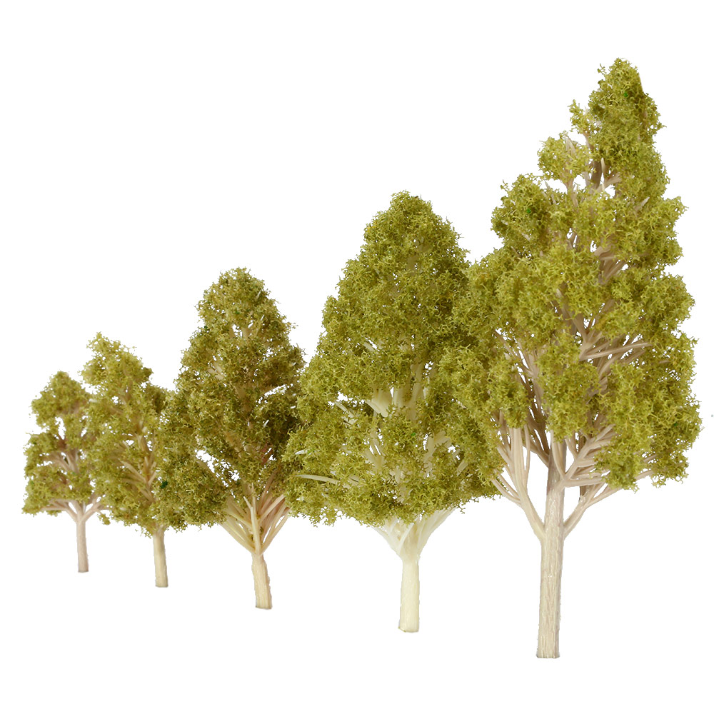 Hot Sale Trees Model 5Pcs/Set Plastic Architectural Tree Model Railroad Layout Garden Landscape Scenery Diorama Miniatures Model(China (Mainland))