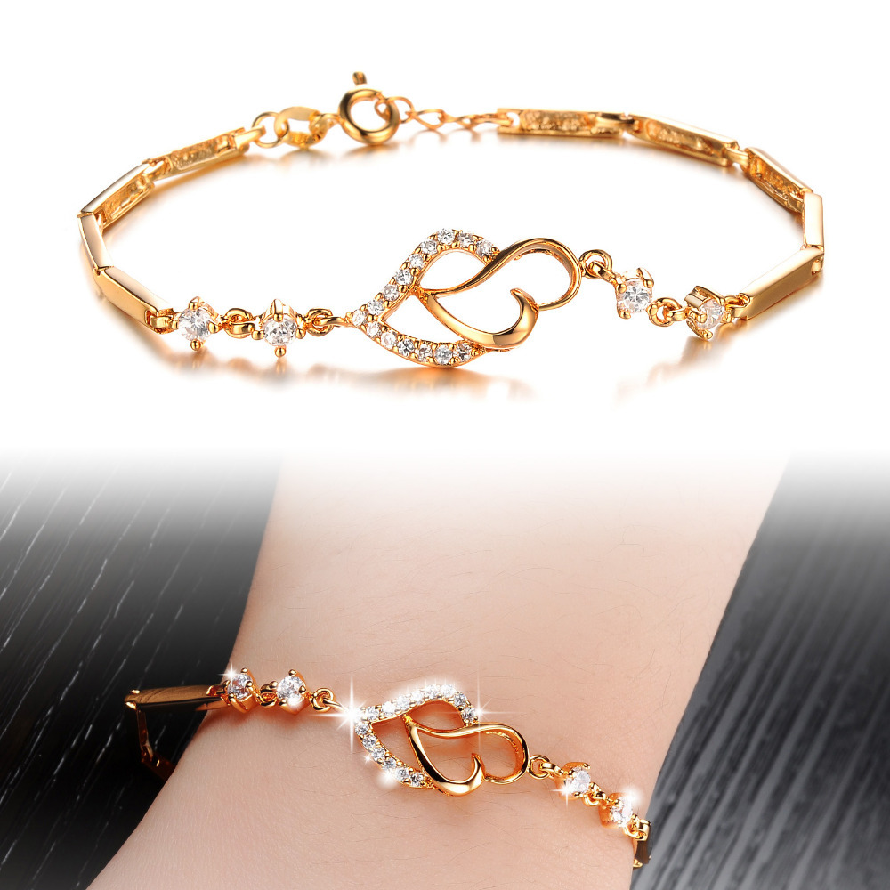new fashion simple style 18k gold plated charm bracelets
