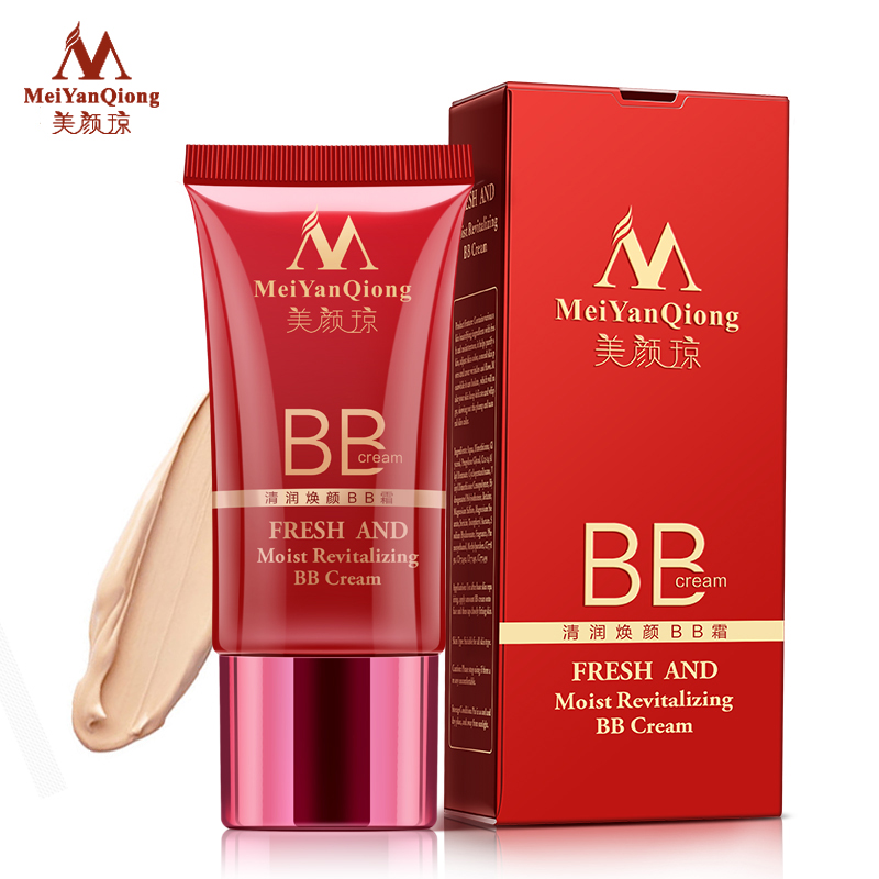 MeiYanQiong Fresh And Moist Revitalizing BB Cream Makeup Face Care Whitening Compact Foundation Concealer Prevent Bask Skin Care(China (Mainland))