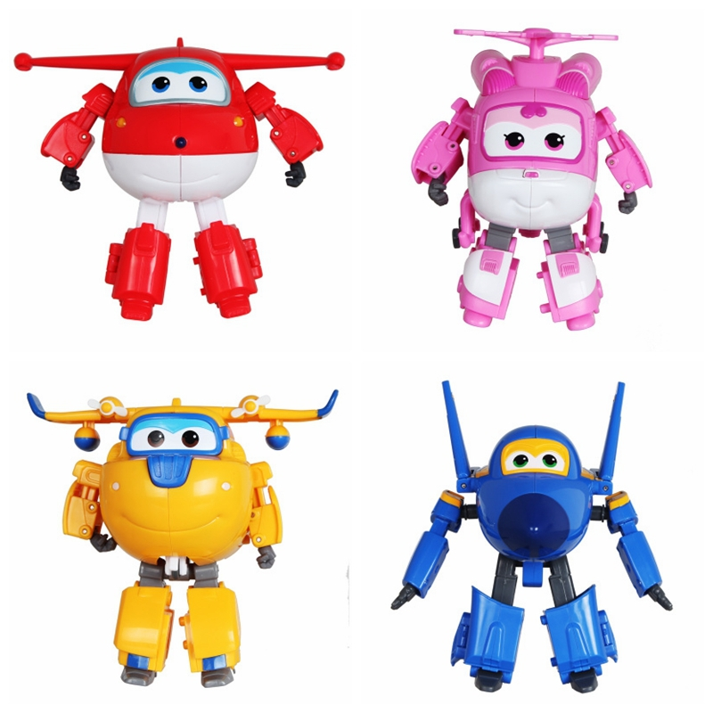 Large Big size Brinquedos Super Wings Deformation Air planes Robot Action Figures Super Wing Transformation Christmas toy dolls(China (Mainland))