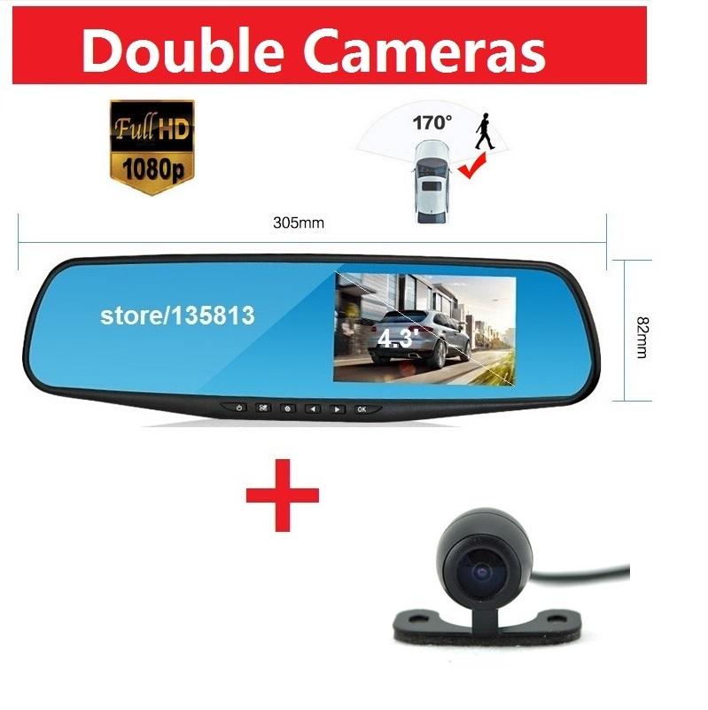 Car Rearview Mirror Camera Video Recorder Car DVR Dual lens Full HD 1080P Camcorder Dash Cam Infrared Night Vision