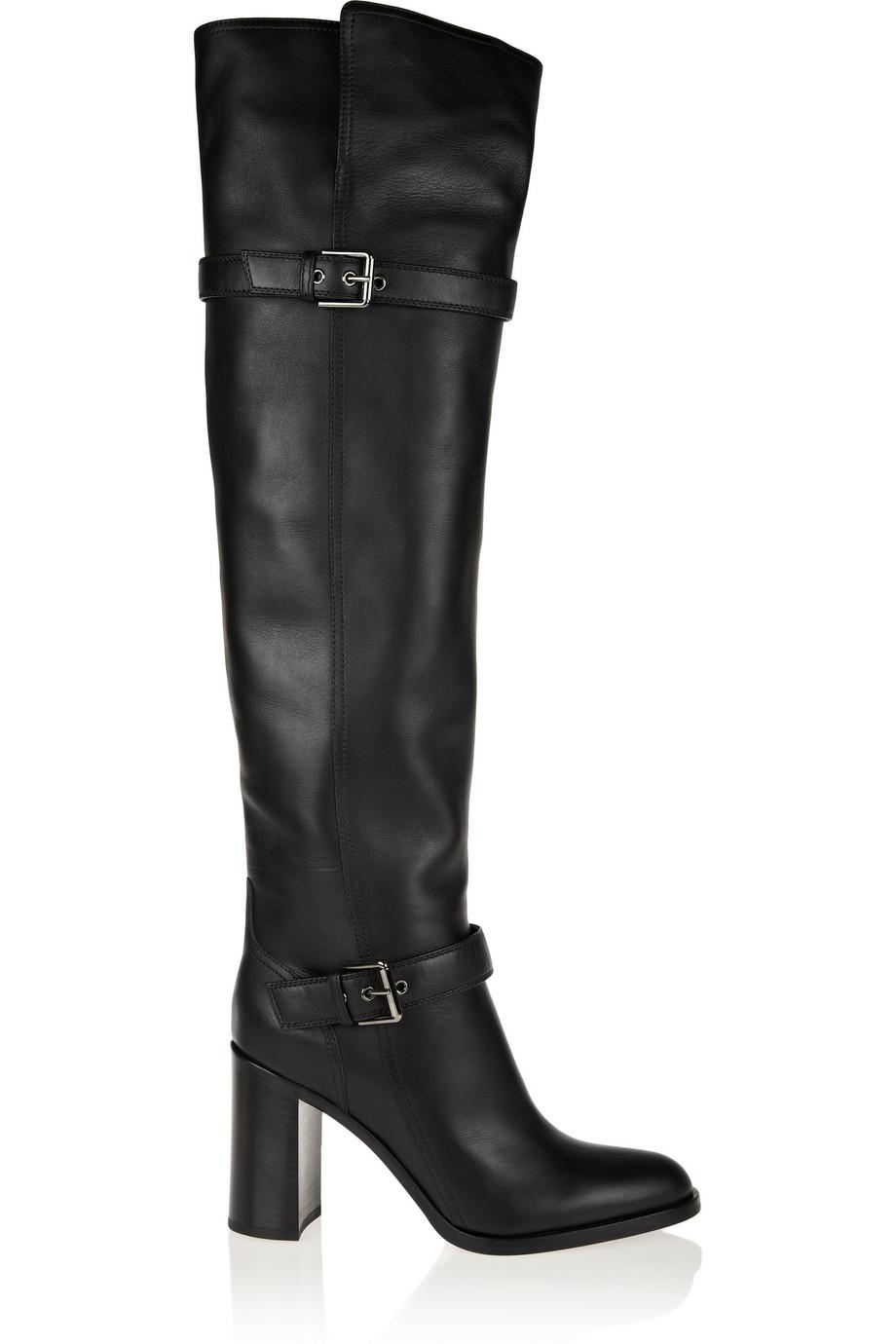 Женщины более-сапоги сексуальные острым носом пряжки slip on свободного покроя обувь женщин на высоких каблуках большой размер 32 — 45 черные зимние ботинки женщина