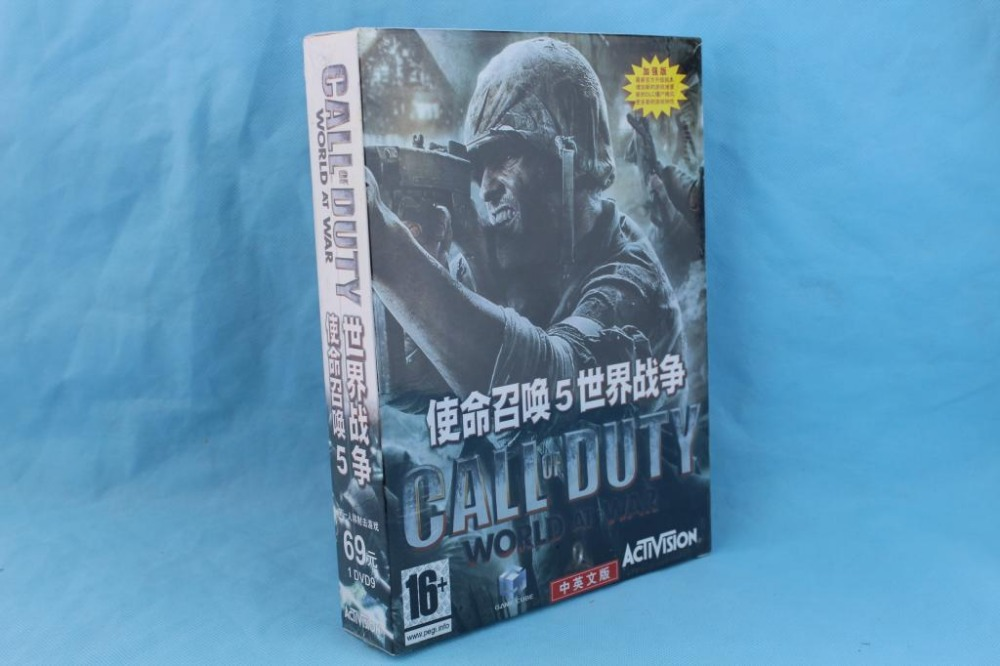 2015Original box PC games Call 0f duty 5: world war windows Serial Number FPS DVD sofwares - Professional Software Shop store