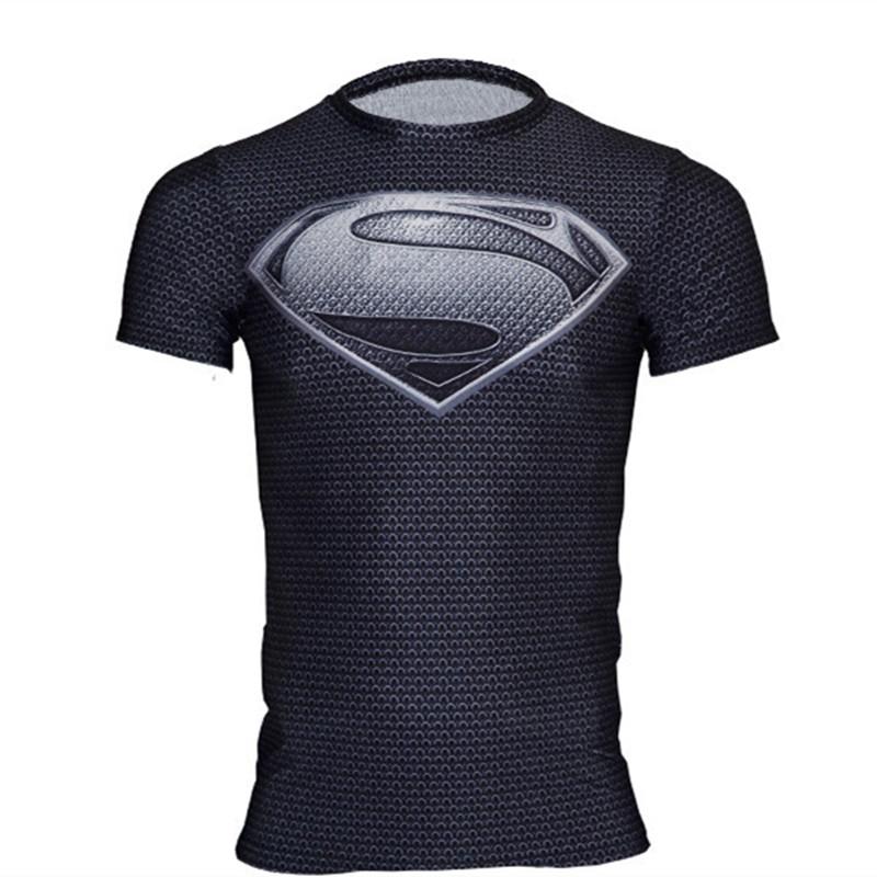 Free Shipping Men Brand Short Sleeve Superman T Shirt Men