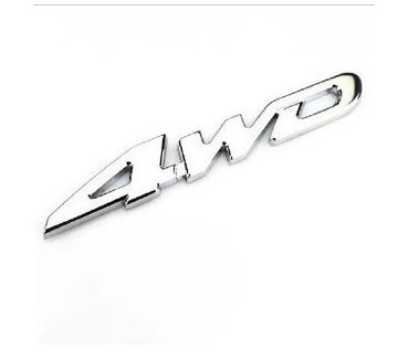 New Car stickers Metal Chrome 4WD Displacement Emblem Badge All Wheel Drive Car styling decals For Ford Toyota VW and so on dz(China (Mainland))