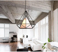 Lamp Light Birdcage Pendant Lamp Scandinavian Modern Minimalist Art Pyramid Iron Diamond Creative Restaurant Pendant Lights