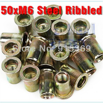 50 Piece M6 Rivet Nut Metric steel Riv nut  Nutsert Riveting<br><br>Aliexpress