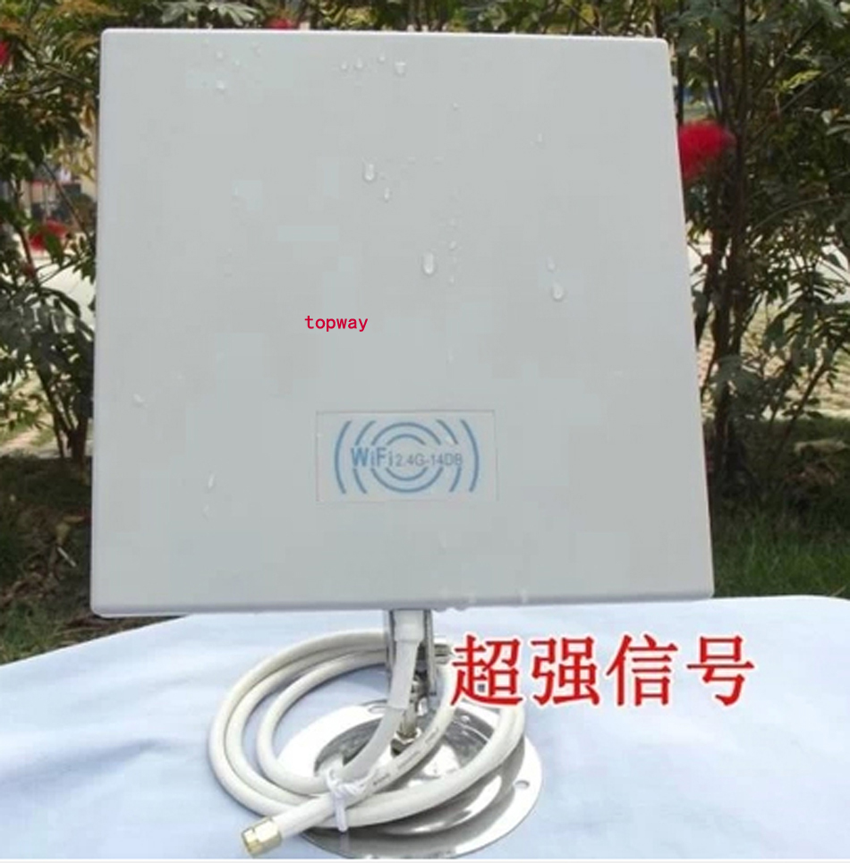 14dB 2.4GMHz Wireless WiFi WLAN Outdoor Panel Antenna with 70CM cable 1pcs/lot(China (Mainland))
